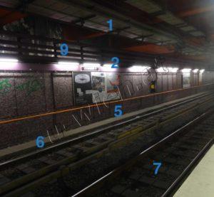 Tunnelröhre - technische Details, Innenansicht