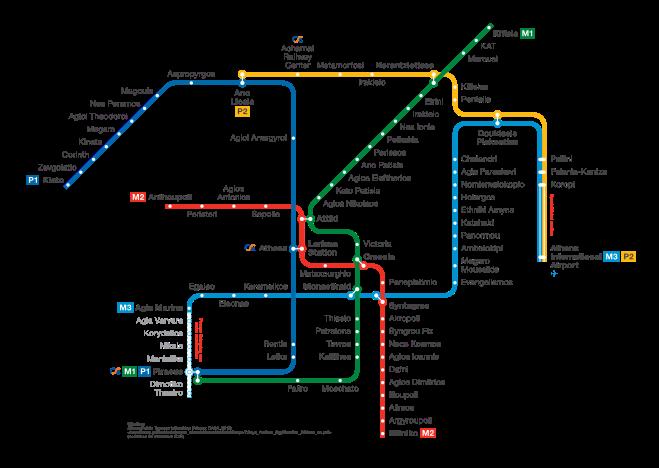 U-Bahnnetz Athen, 2013