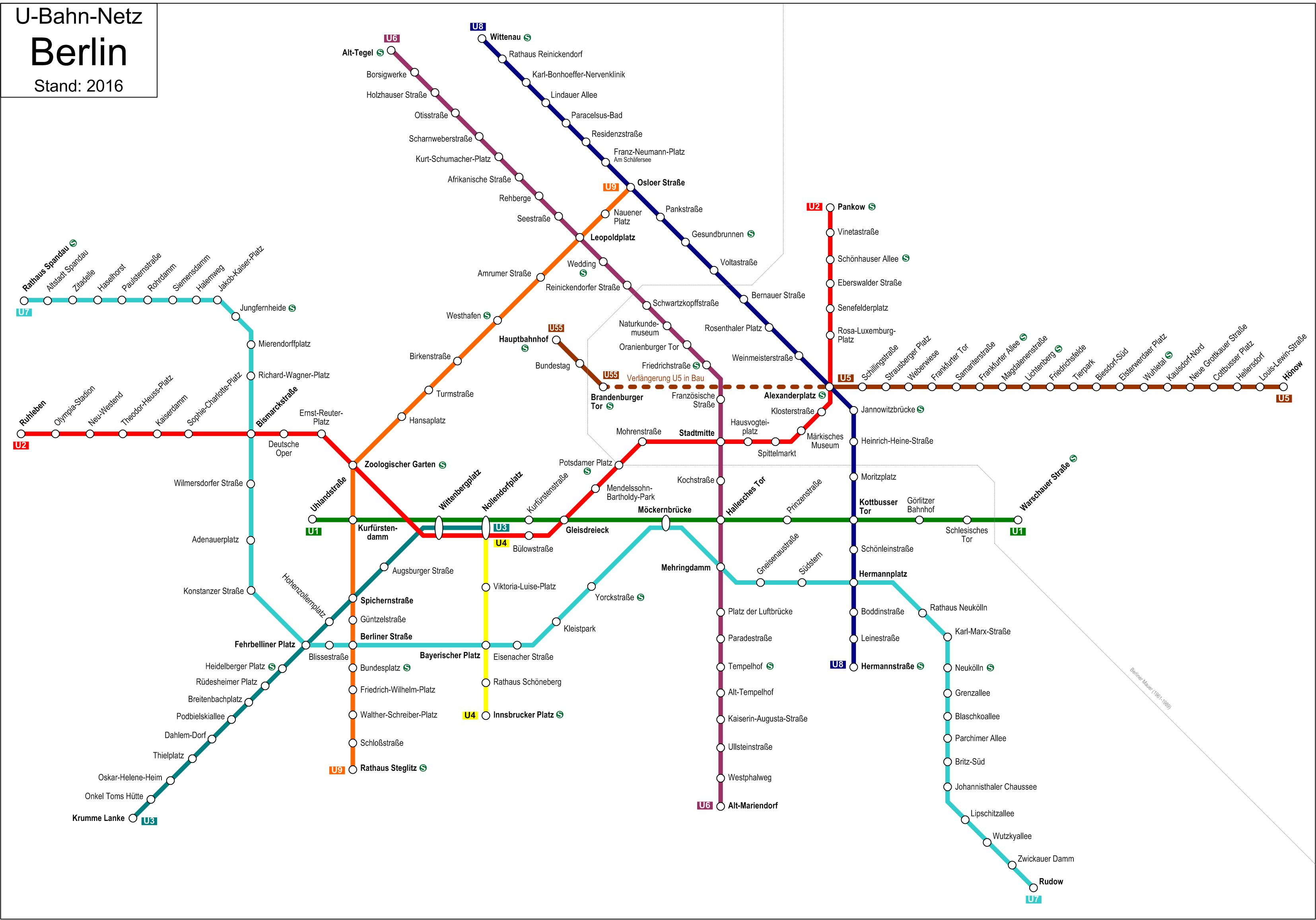 U-Bahnnetz Berlin, 2016