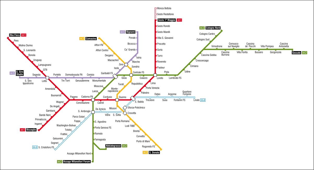 U-Bahnnetz Mailand, 2016