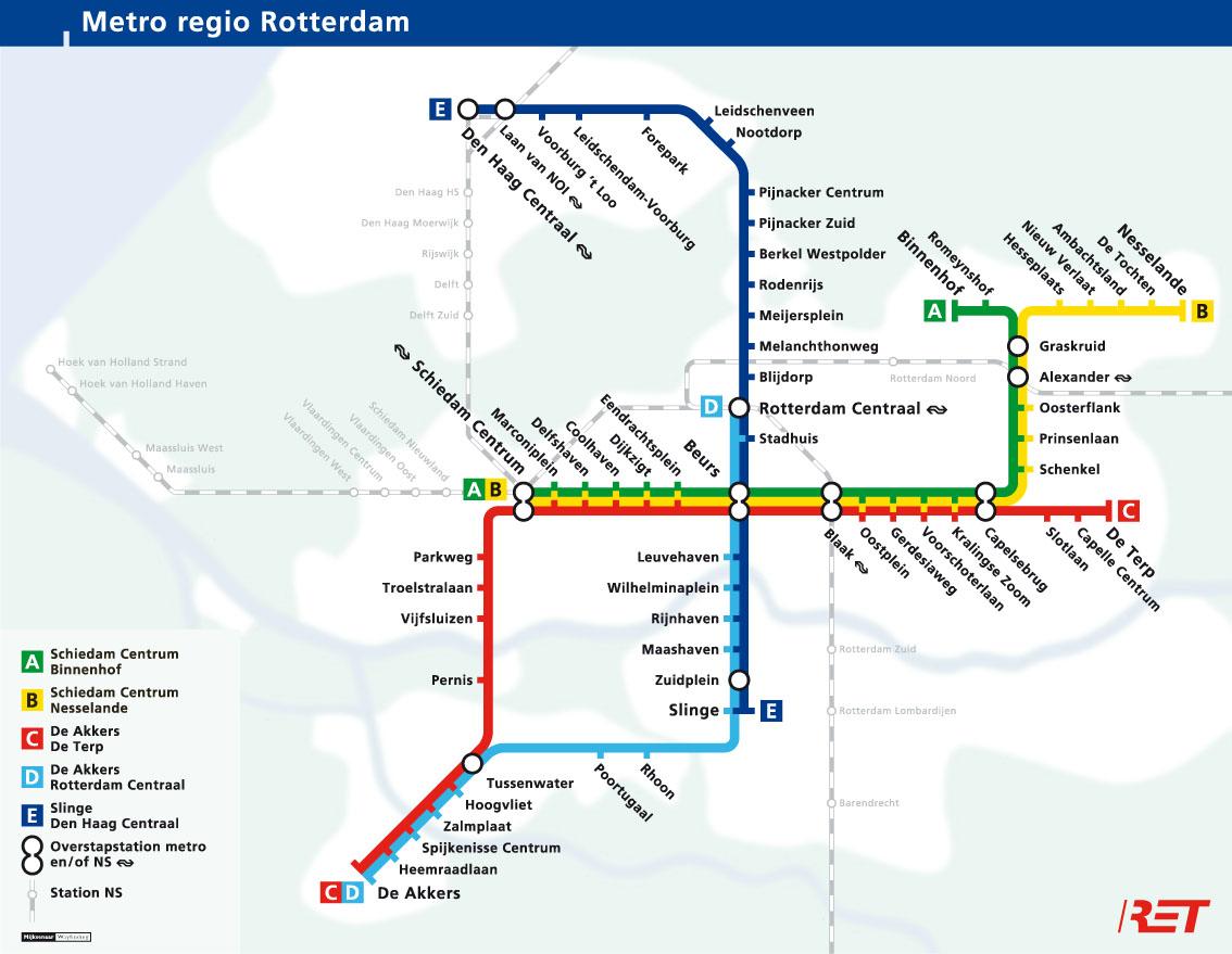 U-Bahnnetz Rotterdam, 2011