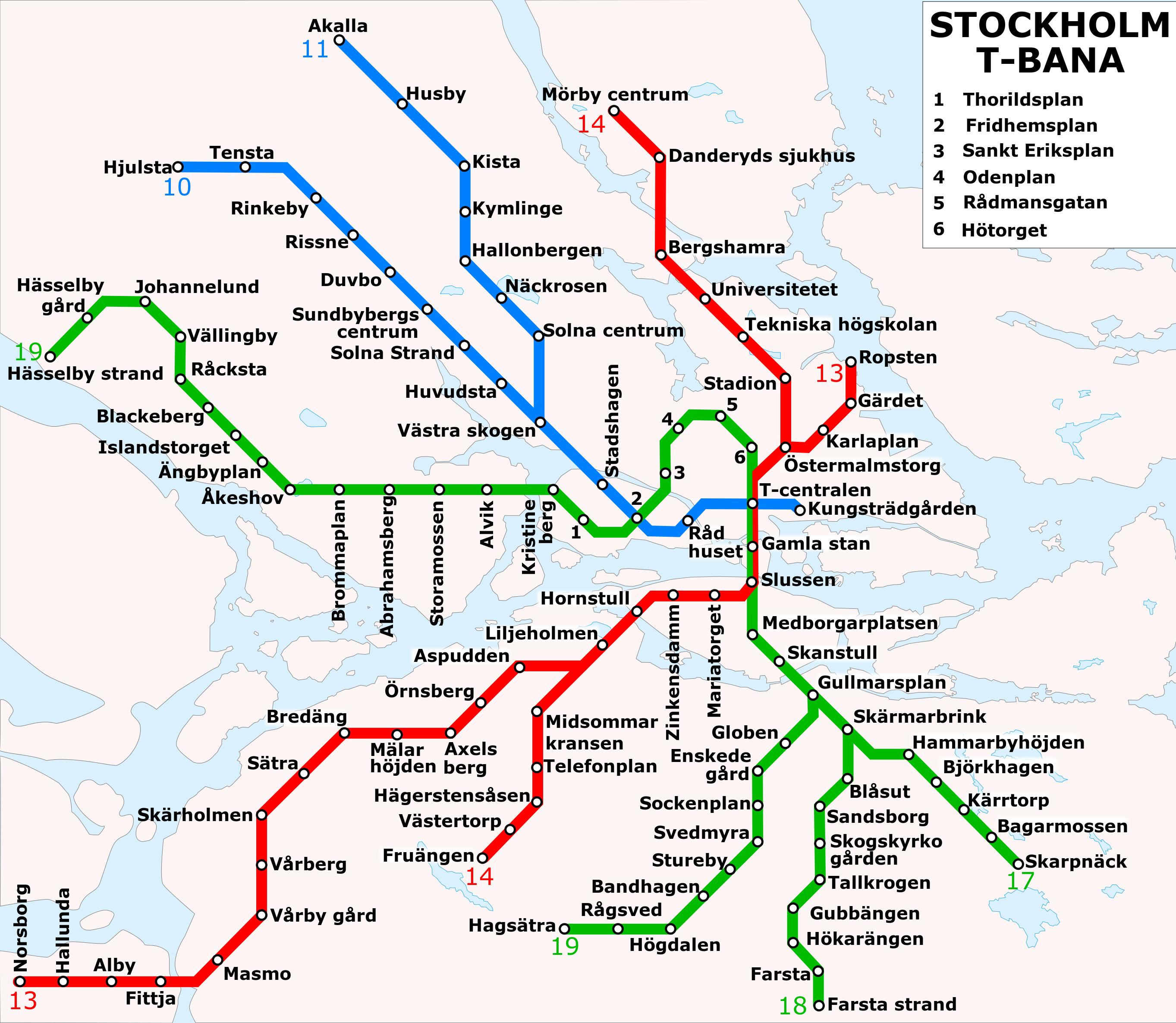 U-Bahnnetz Stockholm, 2011
