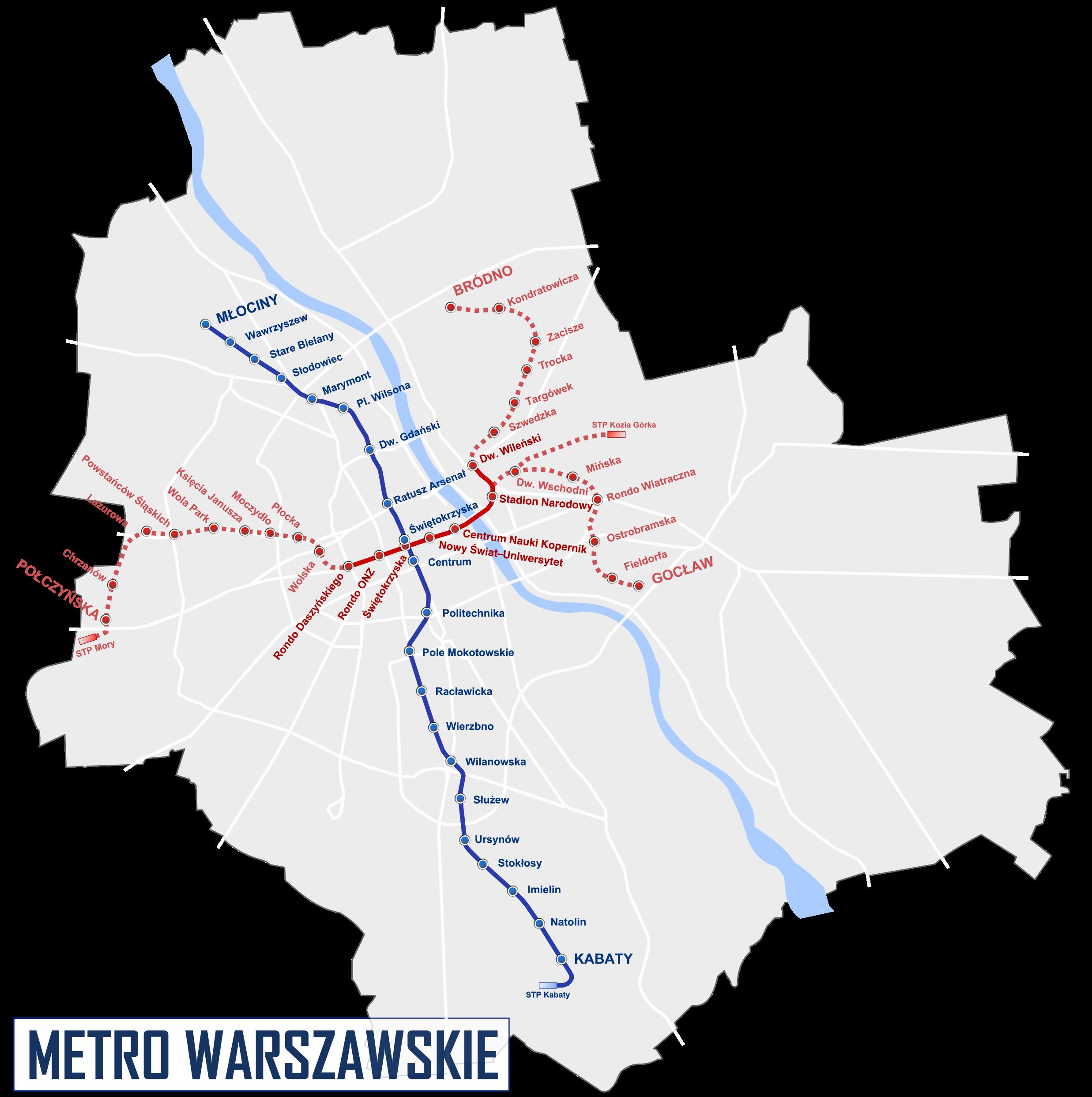 U-Bahnnetz Warschau, 2008