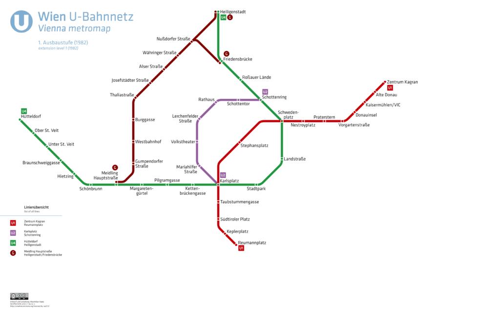U-Bahnnetz Wien, 1982