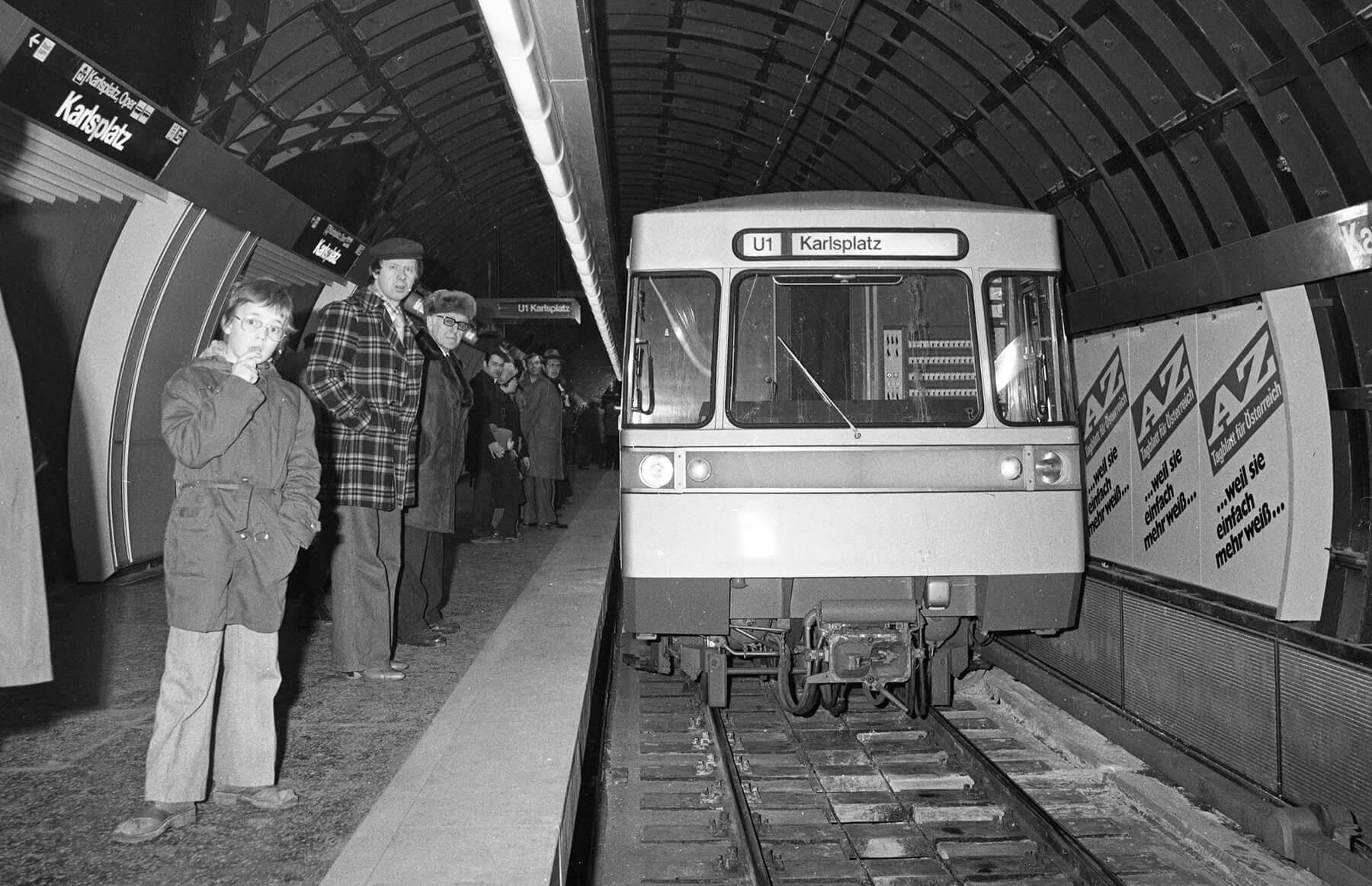 U1 Station Karlsplatz - Eröffnung 1978