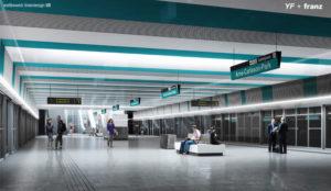 Der Bahnsteig für die neuen U5-Stationen