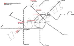 verschobene und geschlossene Stationen