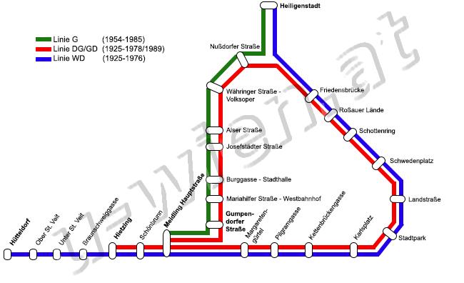Eingestellte Strecken Linien Und Stationen U Bahn Wien