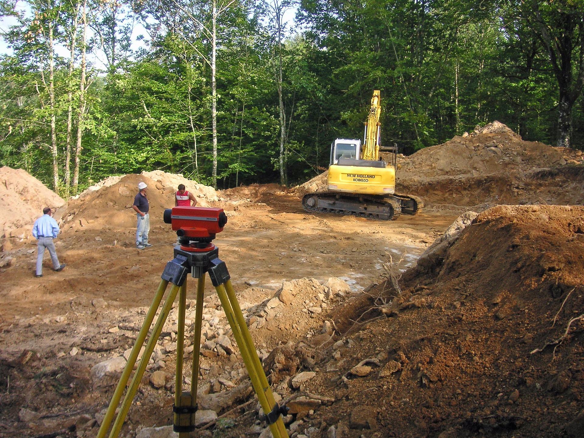 Arbeitsvorbereitung durch Baufirma